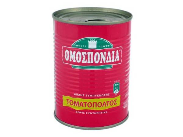 OMOSPONDIA TOMATO PASTE SINGLE CONCENTRATED 22-24% CAN 410g - Code 4301002