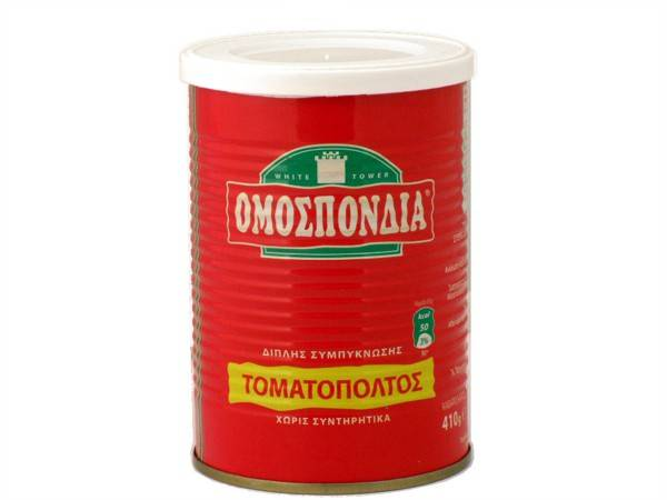 OMOSPONDIA TOMATO PASTE DOUBLE CONCENTRATED 28-30% CAN 410g - Code 4302003
