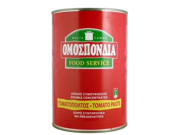 OMOSPONDIA TOMATO PASTE DOUBLE CONCENTRATED 28-30% CAN 4550g - Code 4302009