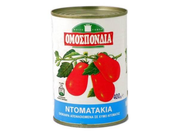 OMOSPONDIA WHOLE PEALED TOMATOES CAN 400g - Code 4303001