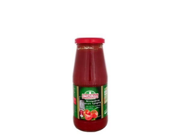 OMOSPONDIA MASHED TOMATOES IN GLASS BOTTLE 420g - Code 4303008