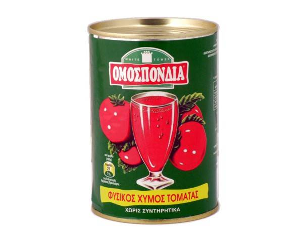 OMOSPONDIA NATURAL TOMATO JUICE CAN 390g - Code 4305001