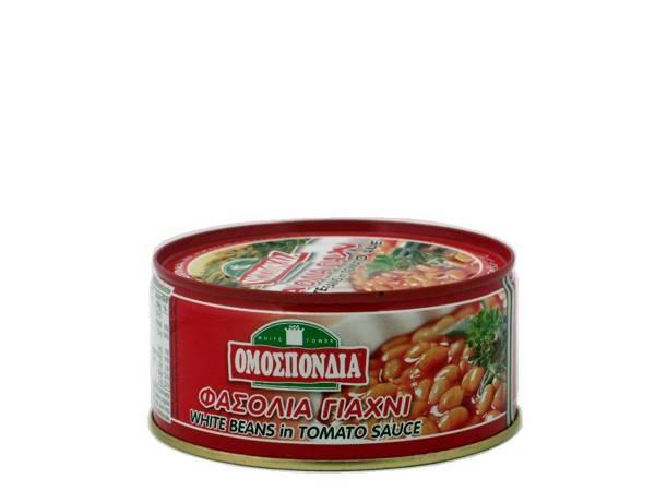 OMOSPONDIA WHITE BEANS IN TOMATO SAUCE CAN 280g - Code 4321005