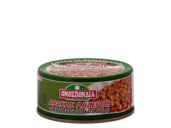 OMOSPONDIA GREEN PEAS IN TOMATO SAUCE CAN 280g - Code 4326001