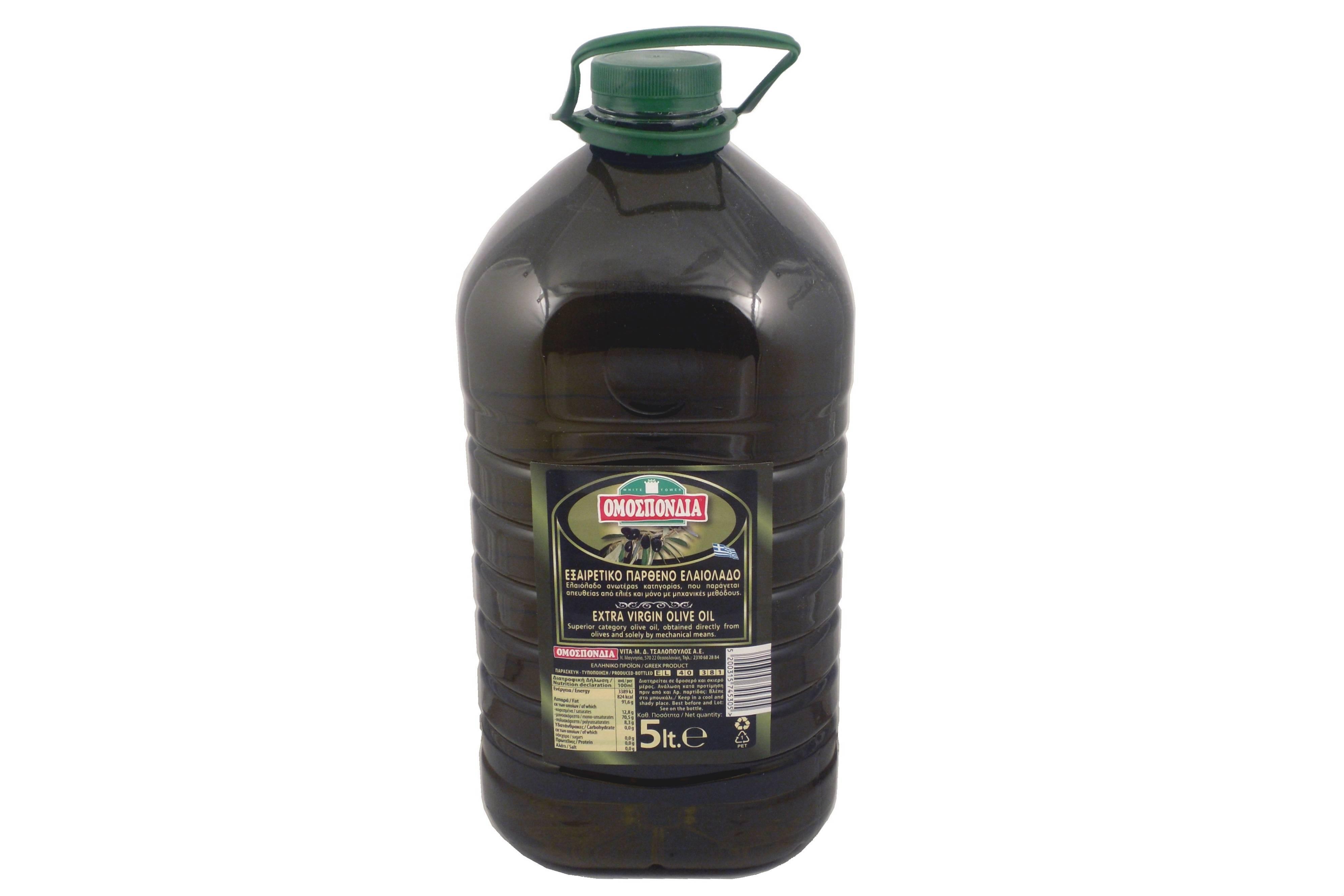 OMOSPONDIA EXTRA VIRGIN OLIVE OIL 5lt PET - Code 4367002