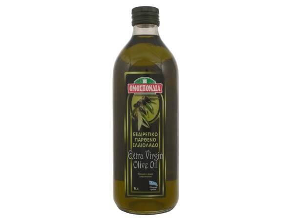 OMOSPONDIA EXTRA VIRGIN OLIVE OIL IN GLASS BOTTLE 1lt - Code 4368001