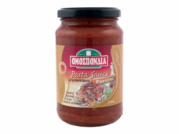 OMOSPONDIA TOMATO PASTA SAUCE W/ PORCINI IN GLASS JAR 350g - Code 4375001