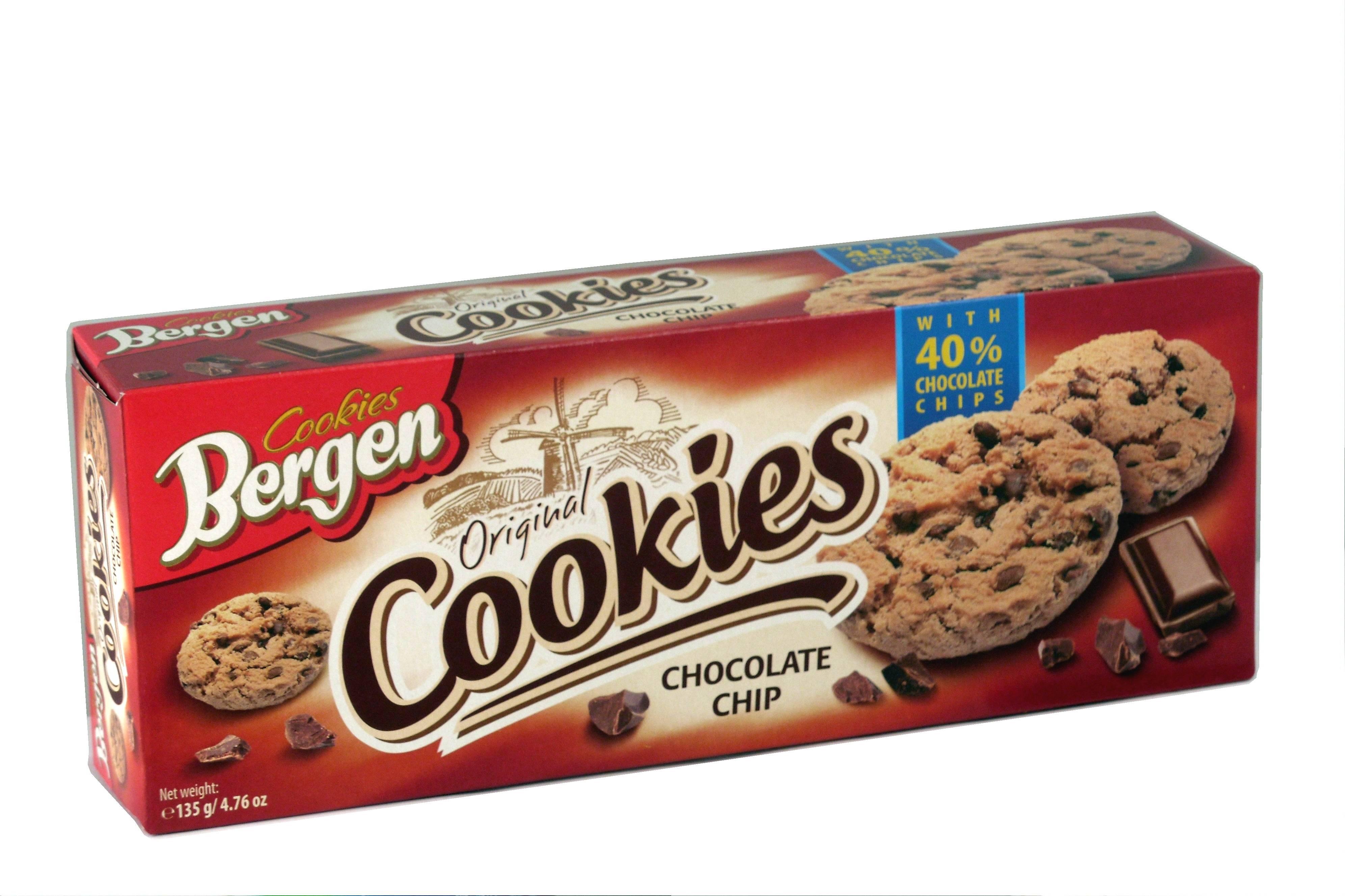 BERGEN COOKIES CHOCOLATE CHIPS 135γρ. - Κωδ. 5002001